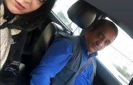 حمیرا ریاضی و همسر بازیگرش در خودرو شخصی شان+عکس