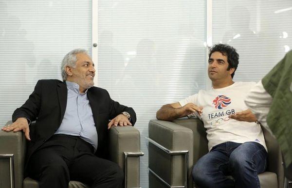 منوچهر هادی در کنار مرد پر آوازه سینما و تلویزیون + عکس