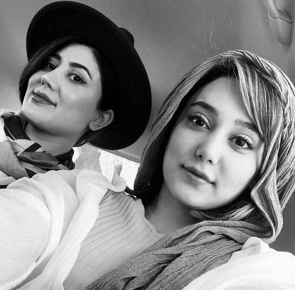 هدیه خانم سریال همگناه با خواهرش + عکس