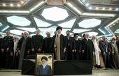اقامه نماز بر پیکر آیت الله شاهرودی توسط رهبر معظم انقلاب اسلامی