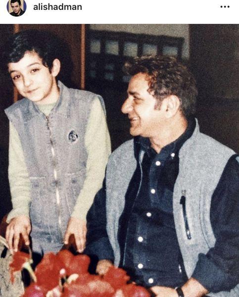 کودکی علی شادمان در کنار پرویز پرستویی + عکس