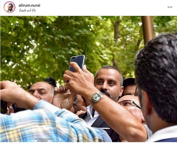 علیرام نورایی در جمع هواداران + عکس