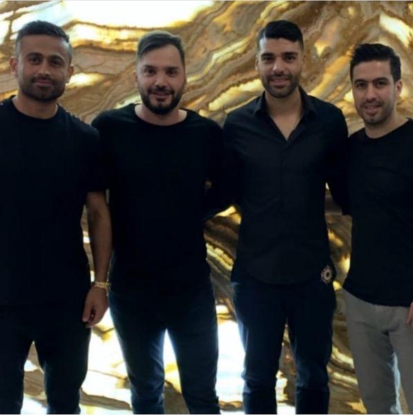 جمعی از فوتبالیست های مشهور در کنار هم + عکس