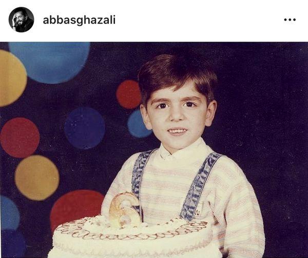 تولد کودکانه عباس غزالی + عکس