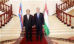 دیدار وزرای امور خارجه تاجیکستان و کره شمالی در «دوشنبه»
