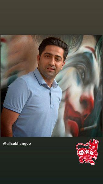 نقش جوکر بر دیوار زندگی علی سخنگو + عکس