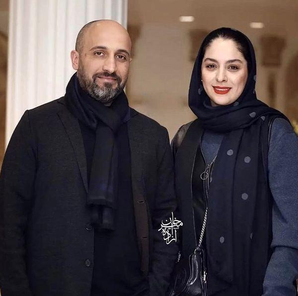 سارا همگناه در کنار همسرش + عکس