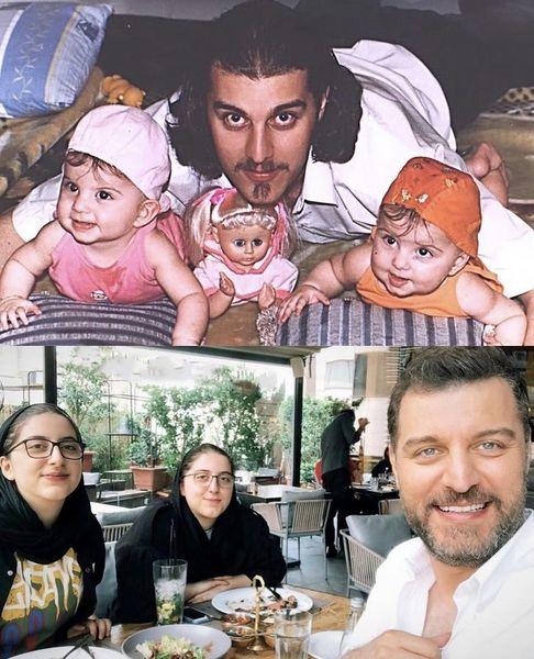 باربد بابایی و دخترانش در گذر زمان + عکس
