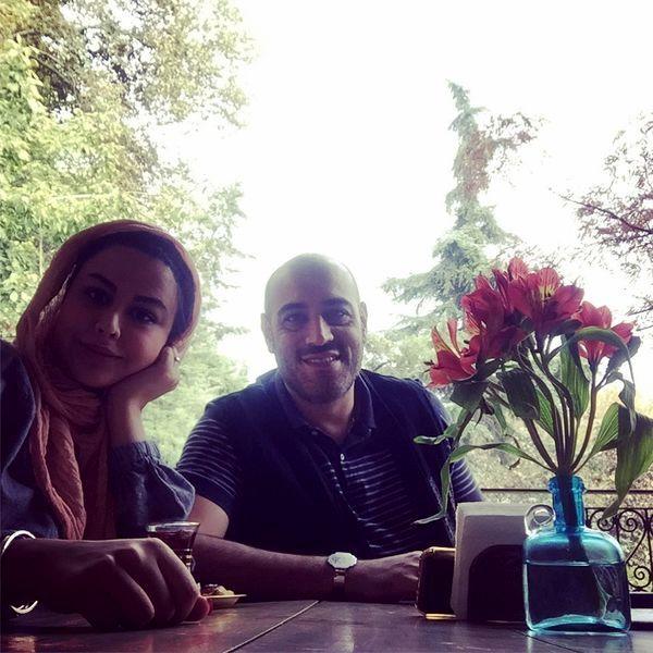 امیریل ارجمند و همسرش در یک کافه + عکس