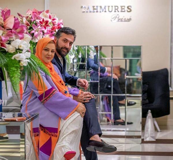 بهاره رهنما و همسرش در گالری لاکچری + عکس