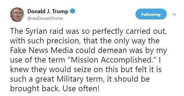 حمله ترامپ به رسانهها پس از حمله به سوریه