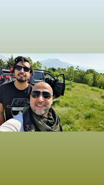 ماشین سواری مهرداد صدیقیان و رفیقش در دا طبیعت + عکس
