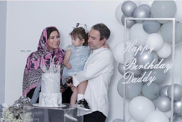 فریبا نادری و همسر و دخترش + عکس