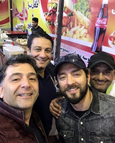 بهرام رادان و دوستانش در فلافلی + عکس