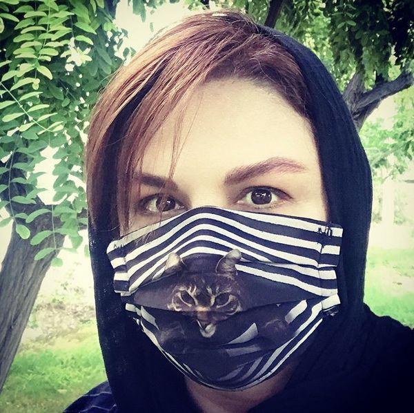 ماسک عجیب شهره سلطانی + عکس