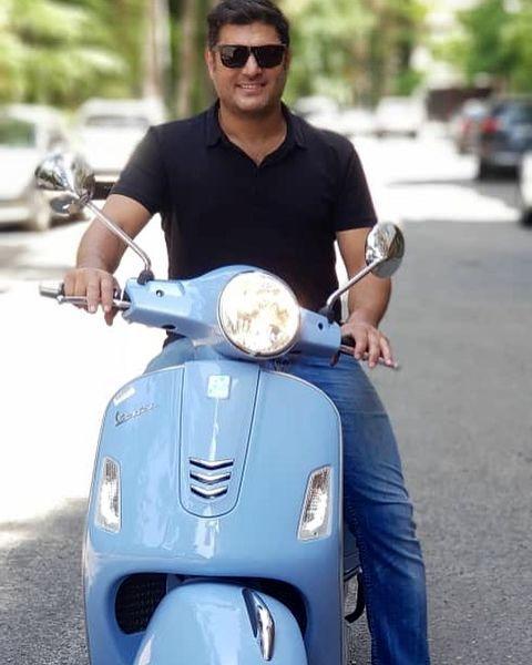 موتور سواری سام درخشانی + عکس