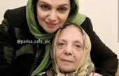 الهام پاوه نژاد در محضر مادر+عکس