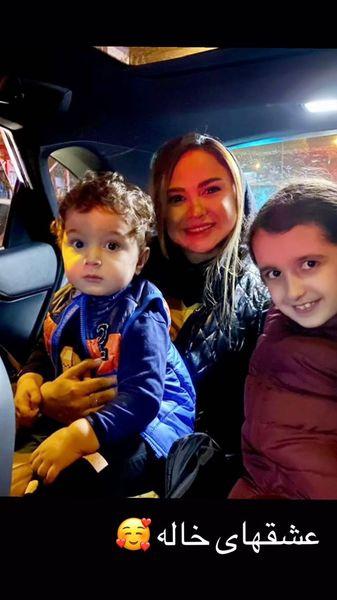 نیلوفر هوشمند و خواهرزاده هایش + عکس