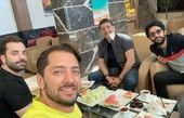 بهرام رادان و دوستانش در مشهد+عکس