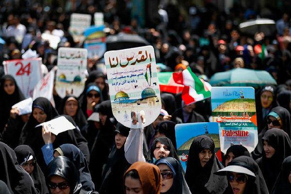 حضور چشمگیر مردم در مسیرهای راهپیمایی تهران