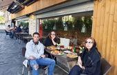 تهرانگردی نسرین مقانلو با پسر تازه از خارج برگشته اش+عکس