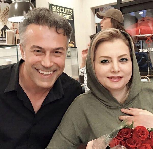 رستوران گردی دانیال حکیمی و همسرش در خارج + عکس
