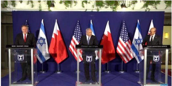 اظهارات پامپئو در کنفرانس خبری مشترک با نتانیاهو و الزیانی درباره ایران