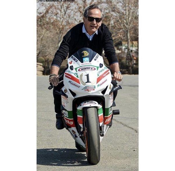 موتور سواری حرفه ای مجید مظفری + عکس