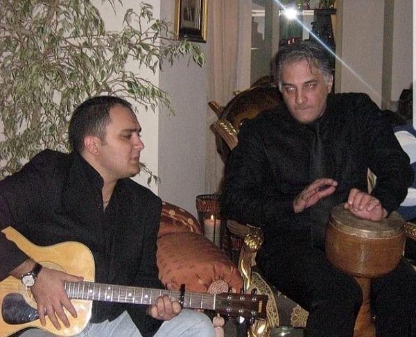 ساز زدن دو بازیگر مشهور در یک میهمانی + عکس