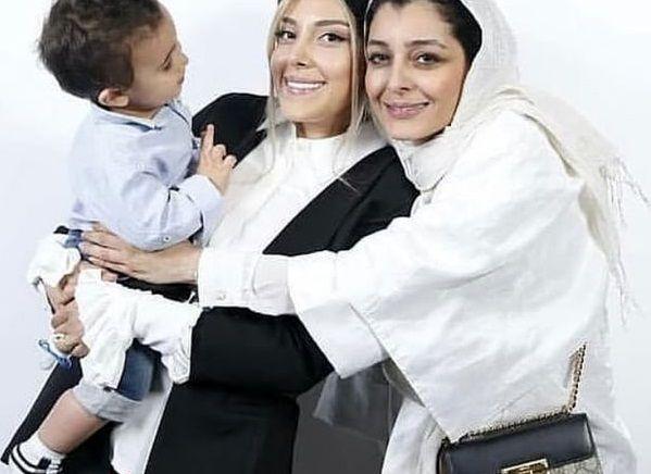 ساره بیات و همسر و فرزند فوتبالیست معروف+عکس