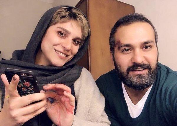 سلفی سحر دولتشاهی با بازیگر سیاوش + عکس