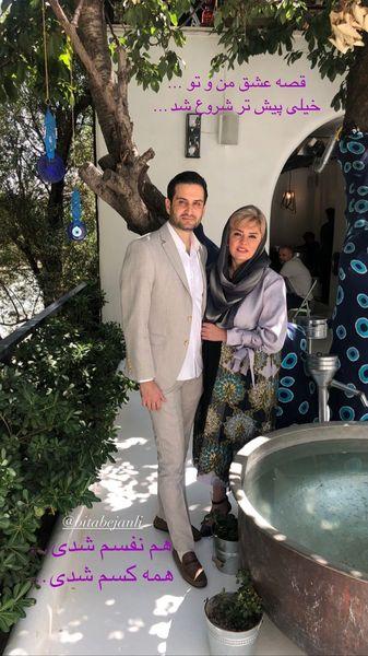 پویا امینی و همسرش رستورانی زیبا + عکس