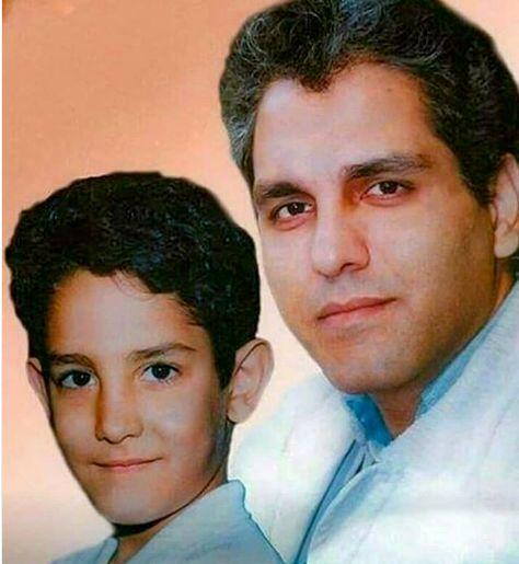 مهران مدیری و پسرش در زمانهای دور + عکس
