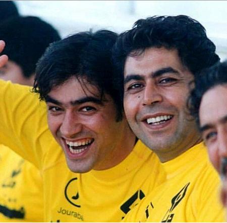 عکس قدیمی و بانمک شهاب حسینی و فرهاد اصلانی
