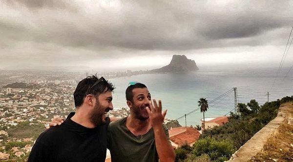 نیما شاهرخ شاهی و دوستش در ارتفاعات زیبای اسپانیا + عکس