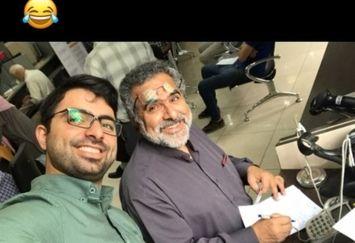 سلفی حسین شمقدری با پدر فیلمسازش