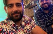 حال خوب امیرحسین آرمان با دوستش + عکس