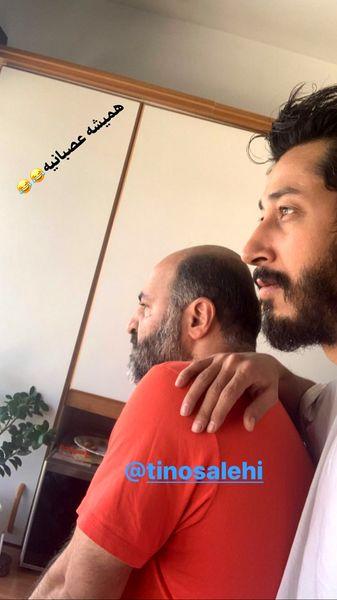 بهرام افشاری و دوستش + عکس
