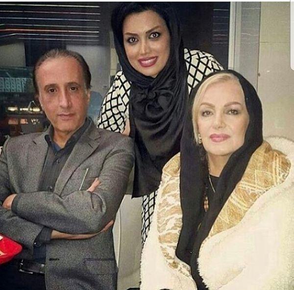 گوینده معروف خبر در کنار همسر و دخترش+عکس