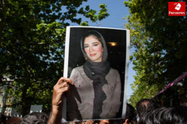 دایی در مراسم یادبود عسل بدیعی /عکس