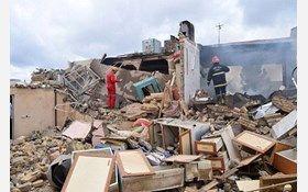 تخریب ساختمان مسکونی با انفجار گاز