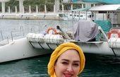 تیپ الهام حمیدی لب دریا+عکس