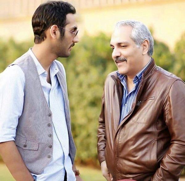 گپ وگفت صمیمانه مهران مدیری با پسرش + عکس