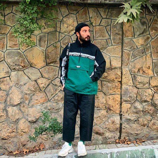 نوید محمدزاده با کاپشن و شلوار ورزشی در خیابان + عکس