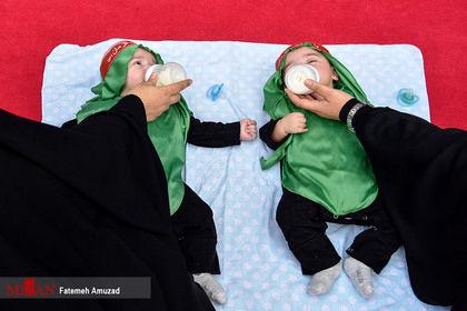 تصویری جالب از شیرخوارگان حسینی