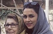 شیوا ابراهیمی و مادرش + عکس