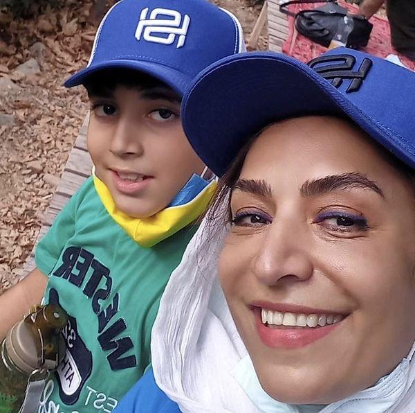 کلاه های ست ساناز سماواتی و پسرش + عکس