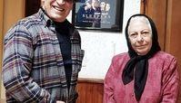 بهمن هاشمی در کنار پیشکسوت سینمای ایران + عکس