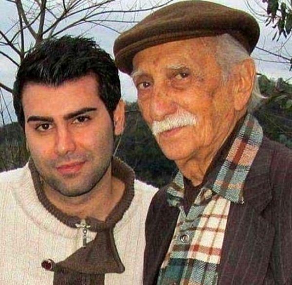 مرحوم داریوش اسدزاده در کنار پسرش + عکس