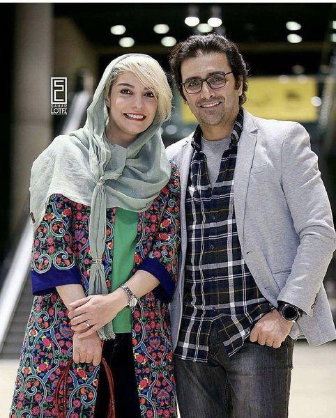 الیکا عبدالرزاقی با همسرش + عکس